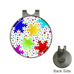 Seamless Snowflake Pattern Hat Clips With Golf Markers