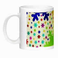 Seamless Snowflake Pattern Night Luminous Mugs