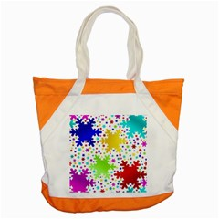 Seamless Snowflake Pattern Accent Tote Bag