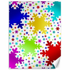 Seamless Snowflake Pattern Canvas 12  x 16
