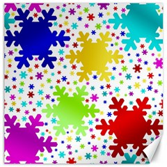 Seamless Snowflake Pattern Canvas 16  x 16