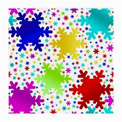 Seamless Snowflake Pattern Medium Glasses Cloth