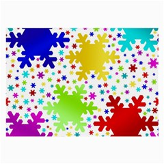 Seamless Snowflake Pattern Large Glasses Cloth (2-Side)