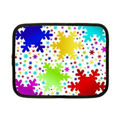 Seamless Snowflake Pattern Netbook Case (small)