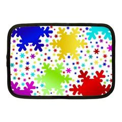 Seamless Snowflake Pattern Netbook Case (Medium)