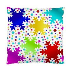 Seamless Snowflake Pattern Standard Cushion Case (one Side)