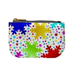 Seamless Snowflake Pattern Mini Coin Purses