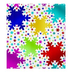 Seamless Snowflake Pattern Shower Curtain 66  x 72  (Large)