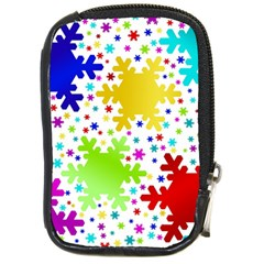 Seamless Snowflake Pattern Compact Camera Cases