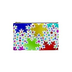 Seamless Snowflake Pattern Cosmetic Bag (Small)