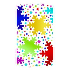 Seamless Snowflake Pattern Memory Card Reader