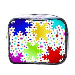 Seamless Snowflake Pattern Mini Toiletries Bags