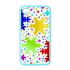 Seamless Snowflake Pattern Apple Iphone 4 Case (color)