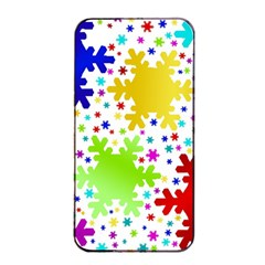 Seamless Snowflake Pattern Apple Iphone 4/4s Seamless Case (black)