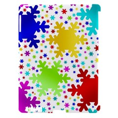 Seamless Snowflake Pattern Apple Ipad 3/4 Hardshell Case (compatible With Smart Cover)