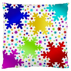 Seamless Snowflake Pattern Large Cushion Case (one Side)