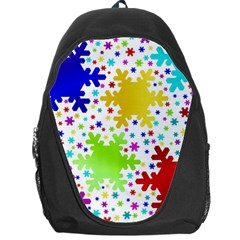 Seamless Snowflake Pattern Backpack Bag