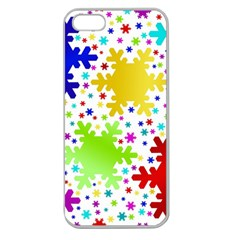 Seamless Snowflake Pattern Apple Seamless Iphone 5 Case (clear)