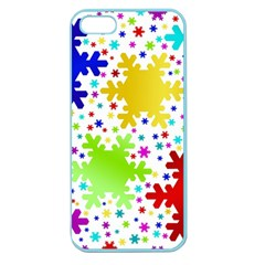 Seamless Snowflake Pattern Apple Seamless iPhone 5 Case (Color)