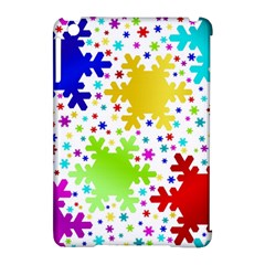 Seamless Snowflake Pattern Apple iPad Mini Hardshell Case (Compatible with Smart Cover)