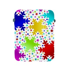 Seamless Snowflake Pattern Apple Ipad 2/3/4 Protective Soft Cases