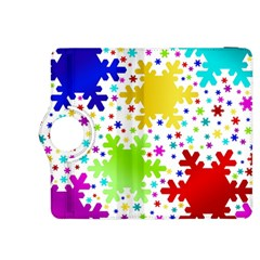 Seamless Snowflake Pattern Kindle Fire Hdx 8 9  Flip 360 Case