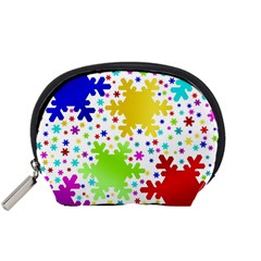 Seamless Snowflake Pattern Accessory Pouches (Small)