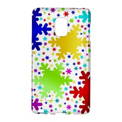 Seamless Snowflake Pattern Galaxy Note Edge
