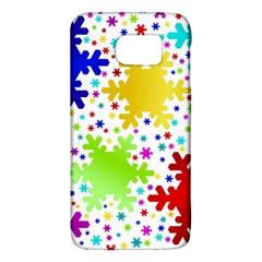 Seamless Snowflake Pattern Galaxy S6