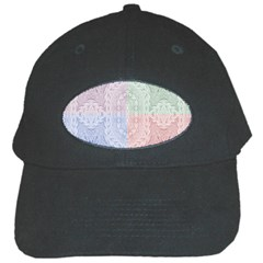 Seamless Kaleidoscope Patterns In Different Colors Based On Real Knitting Pattern Black Cap