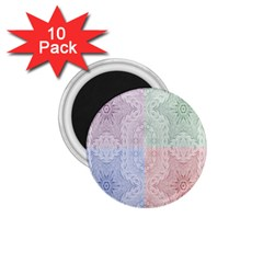 Seamless Kaleidoscope Patterns In Different Colors Based On Real Knitting Pattern 1 75  Magnets (10 Pack)