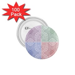 Seamless Kaleidoscope Patterns In Different Colors Based On Real Knitting Pattern 1.75  Buttons (100 pack)
