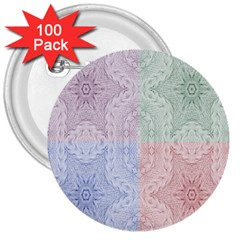 Seamless Kaleidoscope Patterns In Different Colors Based On Real Knitting Pattern 3  Buttons (100 pack)