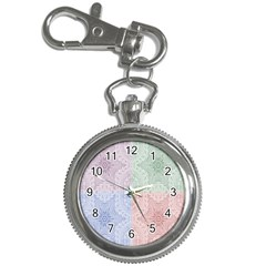 Seamless Kaleidoscope Patterns In Different Colors Based On Real Knitting Pattern Key Chain Watches