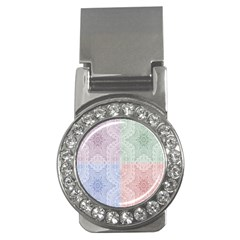 Seamless Kaleidoscope Patterns In Different Colors Based On Real Knitting Pattern Money Clips (CZ)