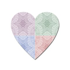 Seamless Kaleidoscope Patterns In Different Colors Based On Real Knitting Pattern Heart Magnet