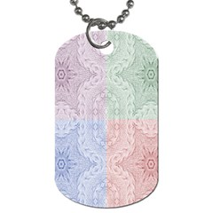 Seamless Kaleidoscope Patterns In Different Colors Based On Real Knitting Pattern Dog Tag (One Side)