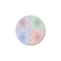 Seamless Kaleidoscope Patterns In Different Colors Based On Real Knitting Pattern Golf Ball Marker