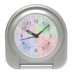 Seamless Kaleidoscope Patterns In Different Colors Based On Real Knitting Pattern Travel Alarm Clocks