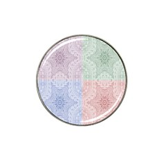 Seamless Kaleidoscope Patterns In Different Colors Based On Real Knitting Pattern Hat Clip Ball Marker (4 Pack)