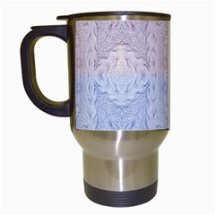 Seamless Kaleidoscope Patterns In Different Colors Based On Real Knitting Pattern Travel Mugs (white)