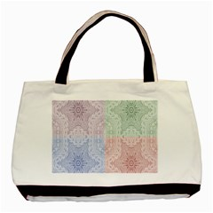 Seamless Kaleidoscope Patterns In Different Colors Based On Real Knitting Pattern Basic Tote Bag