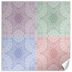 Seamless Kaleidoscope Patterns In Different Colors Based On Real Knitting Pattern Canvas 12  X 12