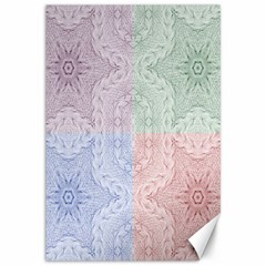 Seamless Kaleidoscope Patterns In Different Colors Based On Real Knitting Pattern Canvas 12  x 18
