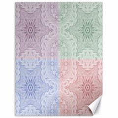 Seamless Kaleidoscope Patterns In Different Colors Based On Real Knitting Pattern Canvas 18  x 24