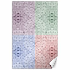 Seamless Kaleidoscope Patterns In Different Colors Based On Real Knitting Pattern Canvas 24  x 36