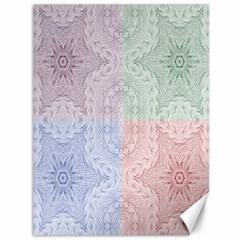 Seamless Kaleidoscope Patterns In Different Colors Based On Real Knitting Pattern Canvas 36  X 48