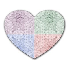 Seamless Kaleidoscope Patterns In Different Colors Based On Real Knitting Pattern Heart Mousepads
