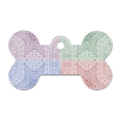 Seamless Kaleidoscope Patterns In Different Colors Based On Real Knitting Pattern Dog Tag Bone (one Side)