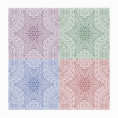 Seamless Kaleidoscope Patterns In Different Colors Based On Real Knitting Pattern Medium Glasses Cloth